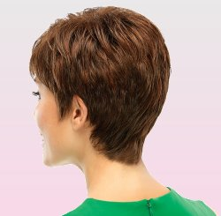 Elite Wig side view shown in shade 6-33